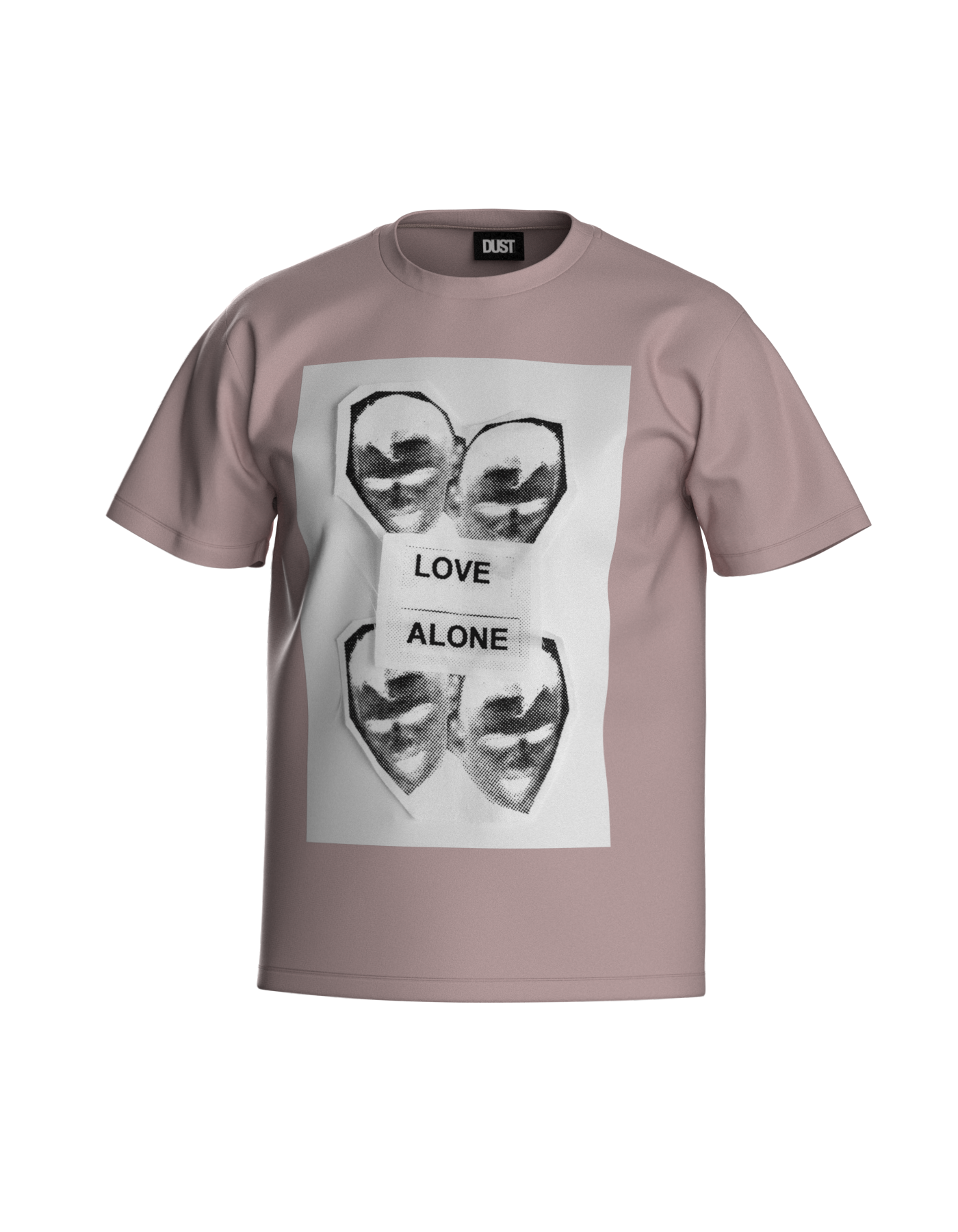 LOVE ALONE T-SHIRT PINK